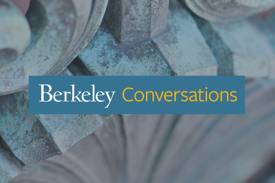 Sather Gate detail — Berkeley Conversations: COVID-19 banner image