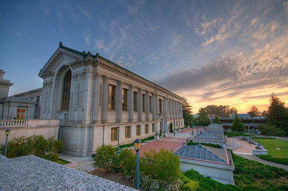 Doe Library and UC Berkeley sunset