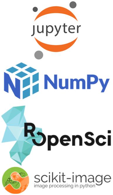 Jupyter-NumPy-rOpenSci-scikit-image composite