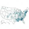 BARTER YU - US Map blue - thumbnail square