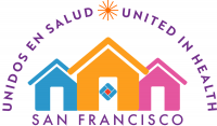 United in Health / Unidos en Salud banner logo
