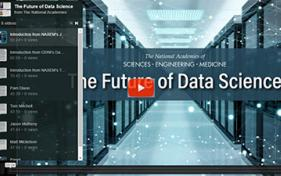 2020-1028 - NASEM Future of Data Science - video thumbnail with play button 400-4web