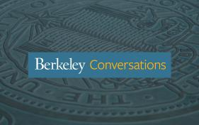 Berkeley Conversations logo - Berkeley Seal with blue bar