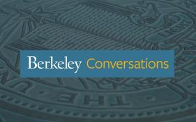 Berkeley Seal image with blue Berkeley Conversations bar