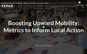 Boosting Upward Mobility - opening slide