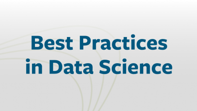 Best Practices in Data Science - banner