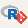 R and GIt logos