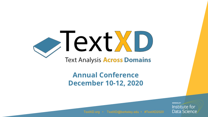 TextXD 2020 - Title Slide